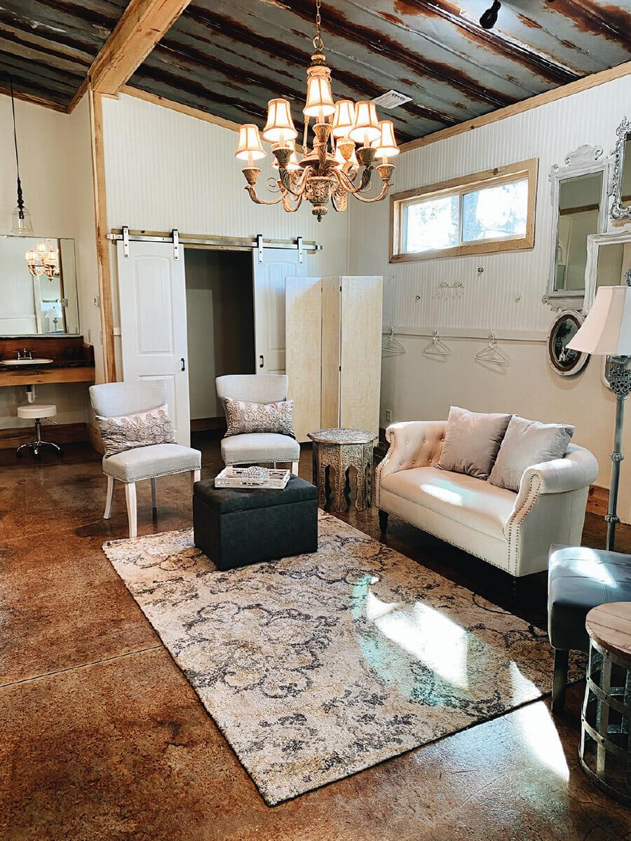 The Homestead Barn Dressing Room