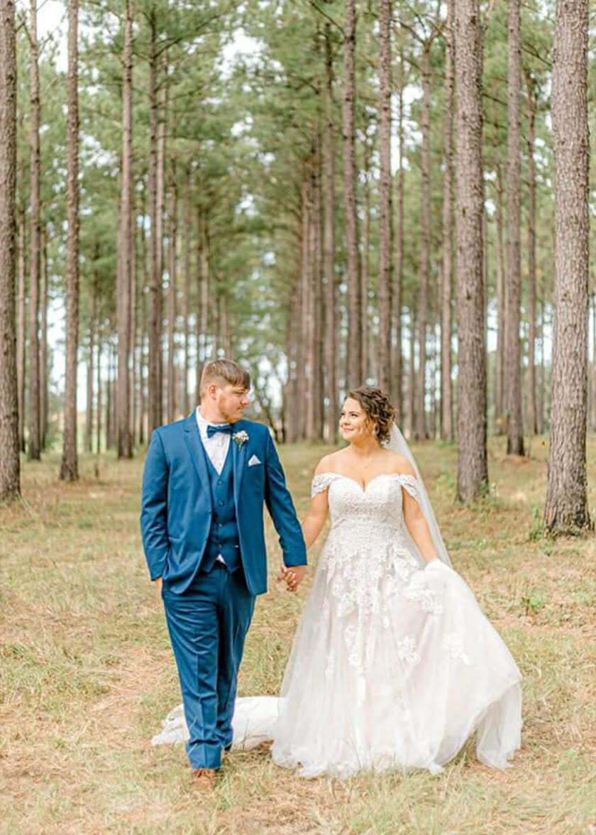 Walking to the reception